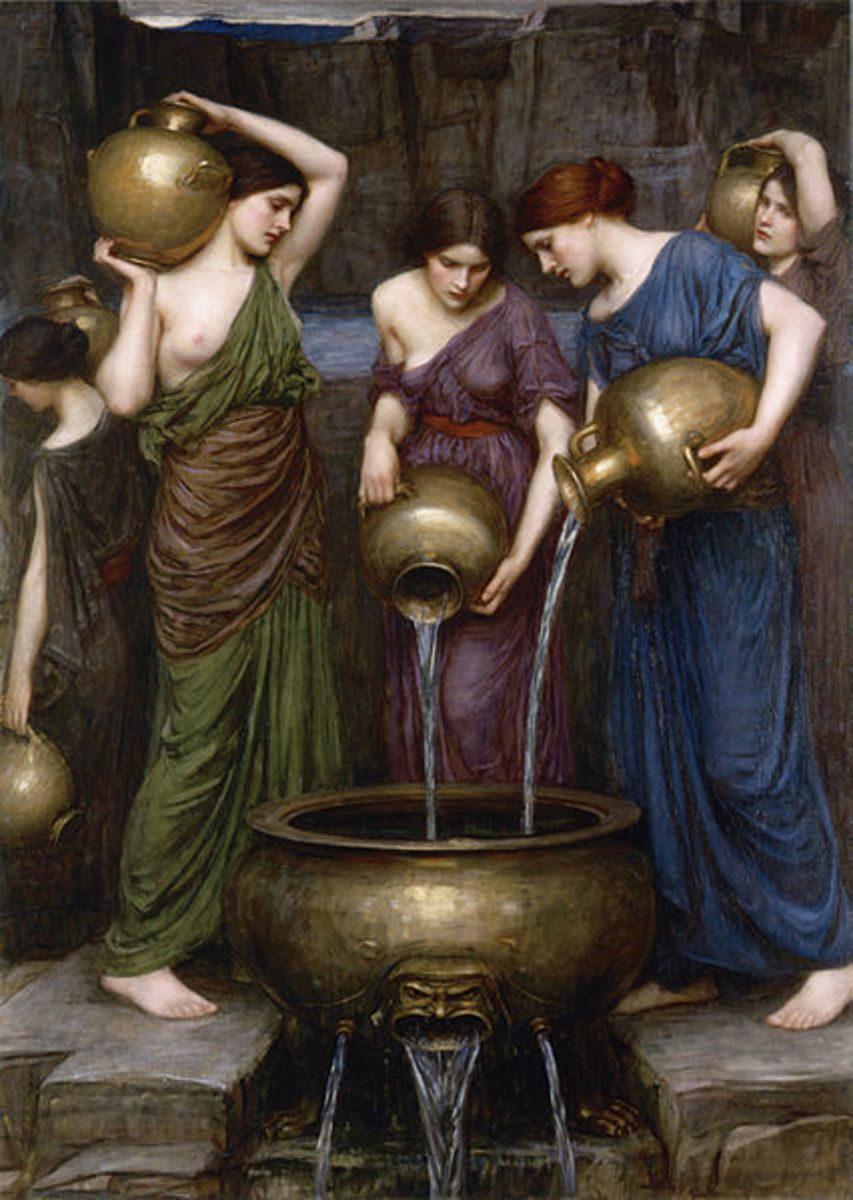 The Danaids - John William Waterhouse (1849–1917) - PD-art-100