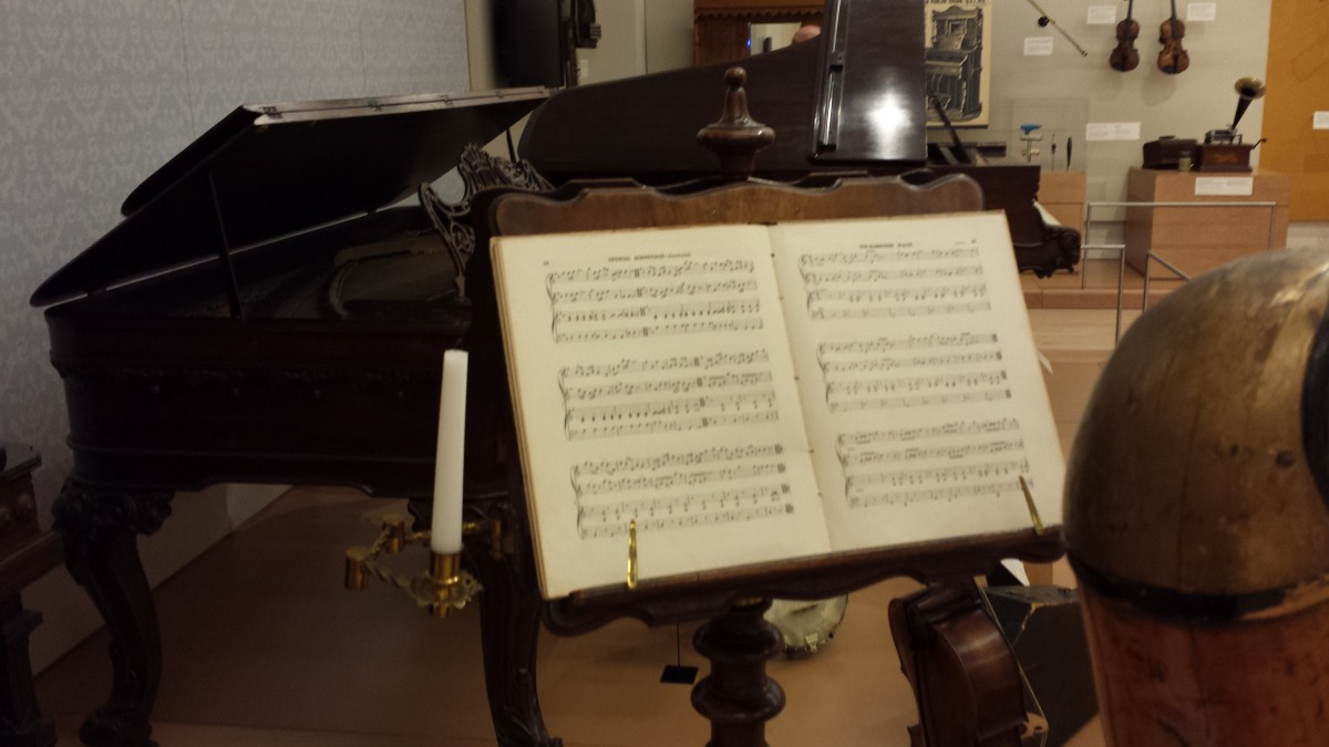 Music by candlelight.  One of many unique musical exhibits on display at the MIM.