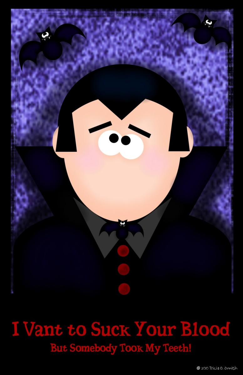 Pin The Teeth On Dracula Printable Halloween Game