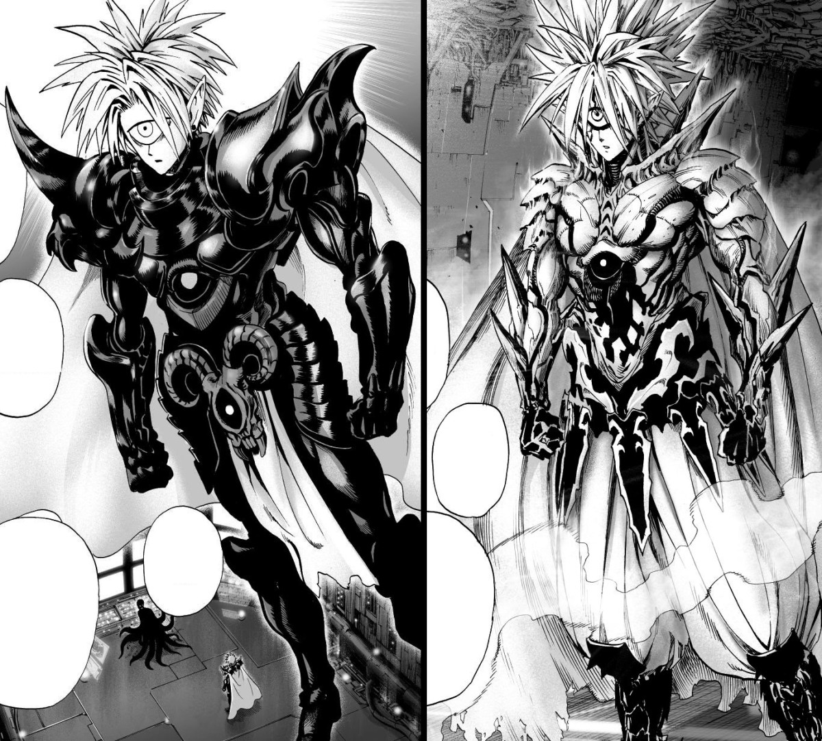 Boros' original design and the official one.