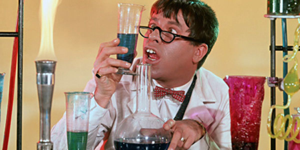 Jerry Lewis Colorful and Terrific as the Nutty Professor