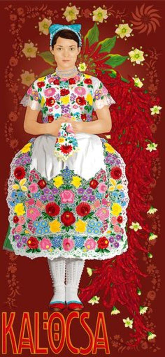 Kalocsa Hungarian Folkloric Embroidery