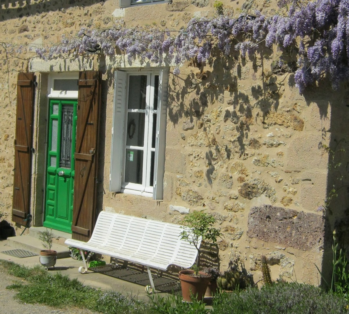Repoint a stone wall - Our last project - Les Trois Chenes B&B in Limousin, France