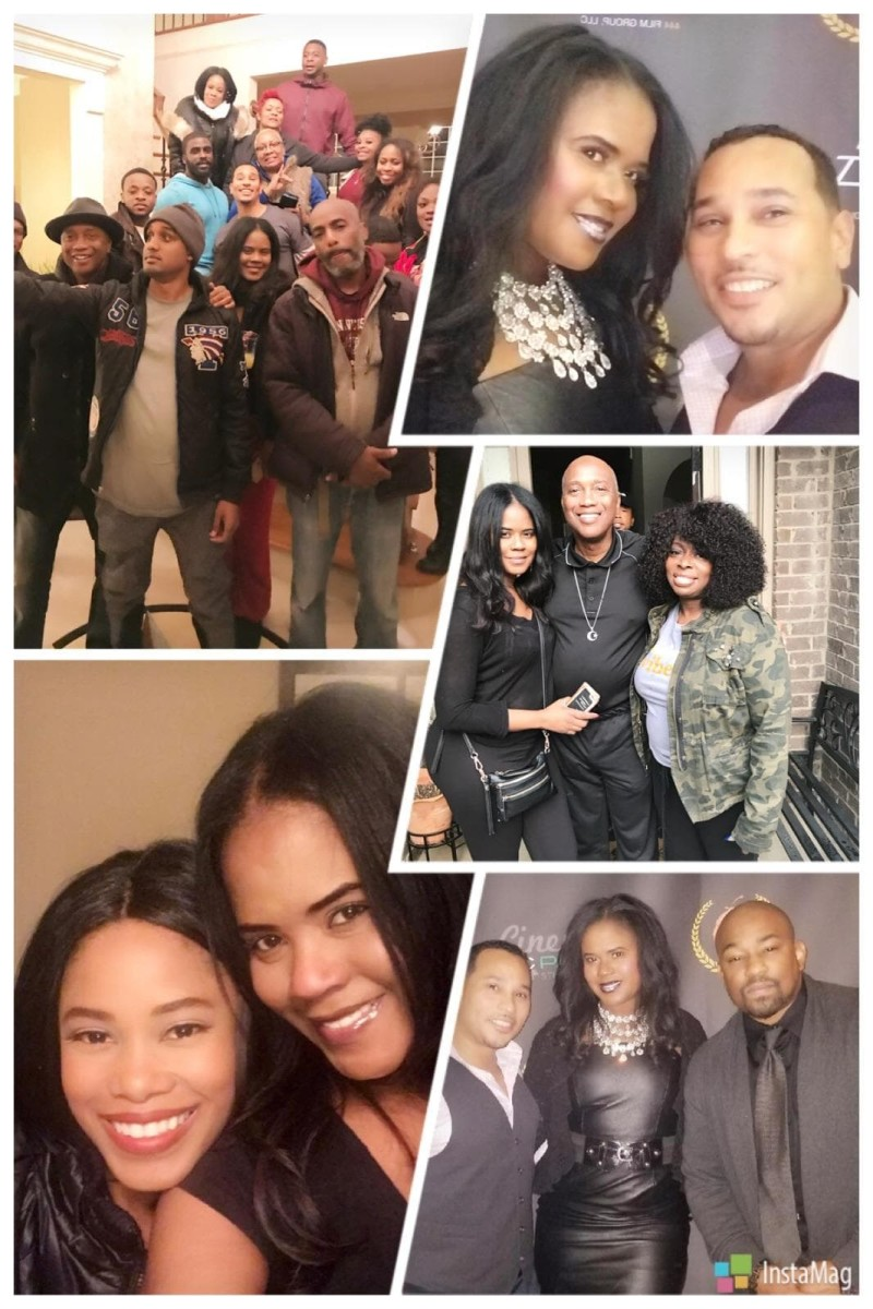 Tangi with cast members at their screening of 'DJ Saved My Life' at the 2018 Peachtree Village International Film Festival