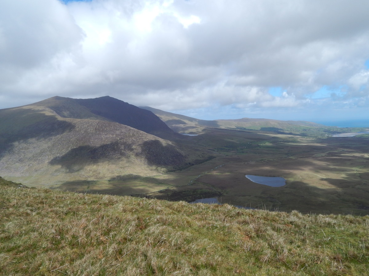 Mount Brandon, as viewed from Conor Pass.