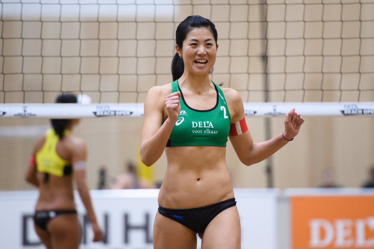 Takemi Nishibori showing that she is happy in 2018.