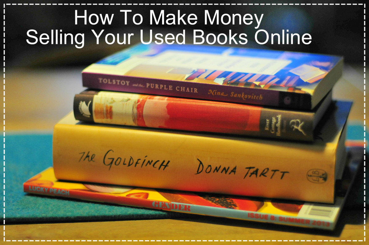 Don't let your used books sit and gather dust.  Declutter and make money by selling your quality used books online. Here's how.