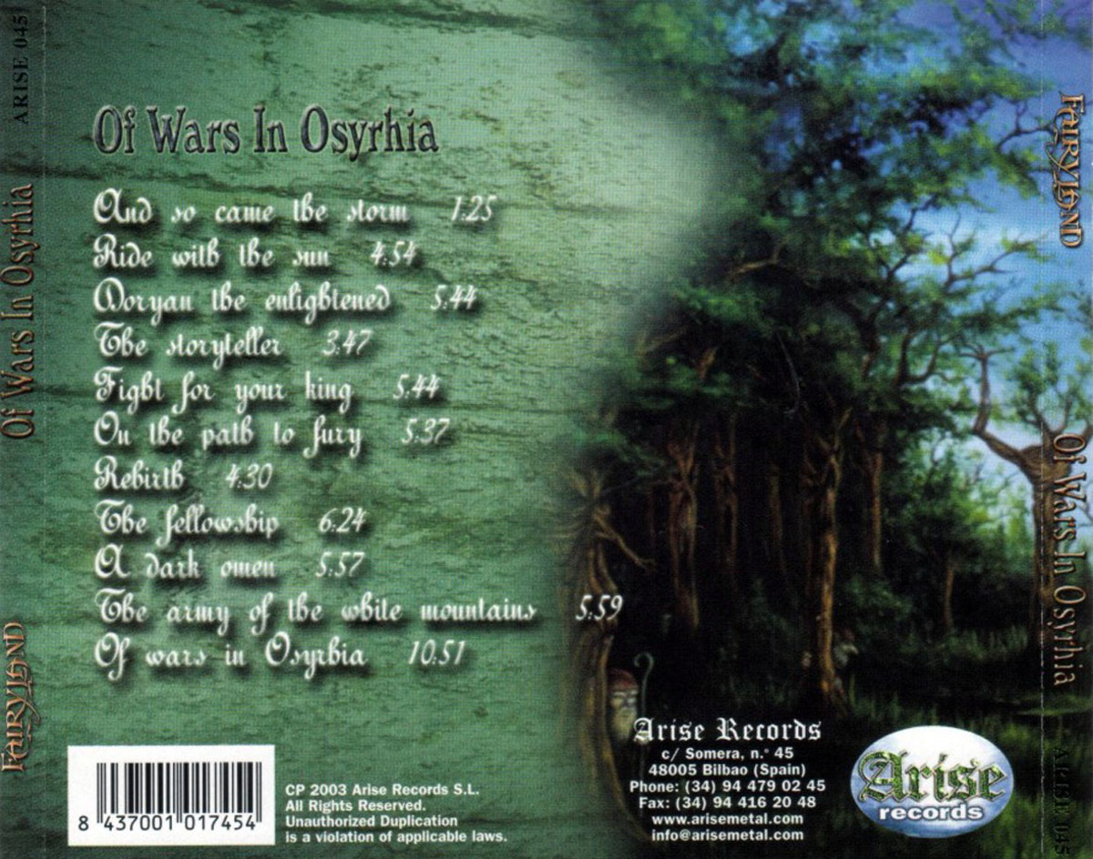 a-review-of-the-album-of-wars-in-osyrhia-by-french-symphonic-metal-band-fairyland