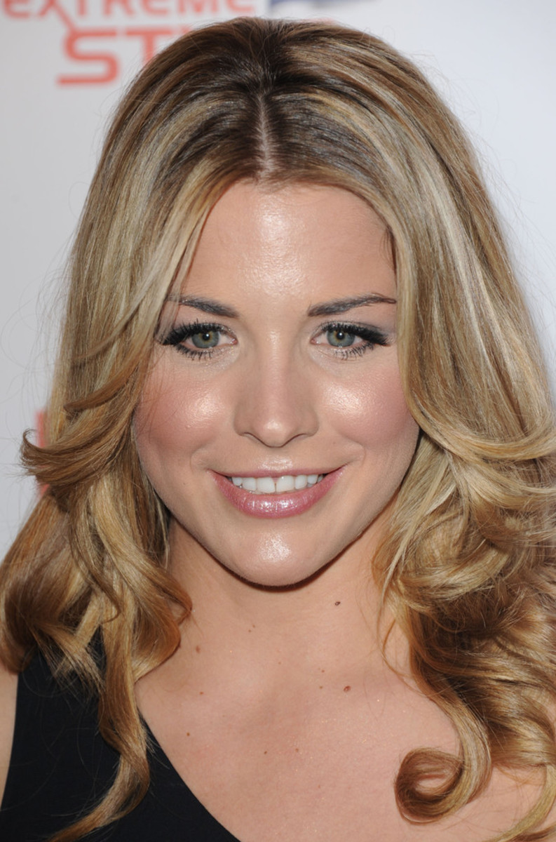 Gemma Atkinson is present here at FHM's 100 Sexiest Women Launch Party in May 2013.