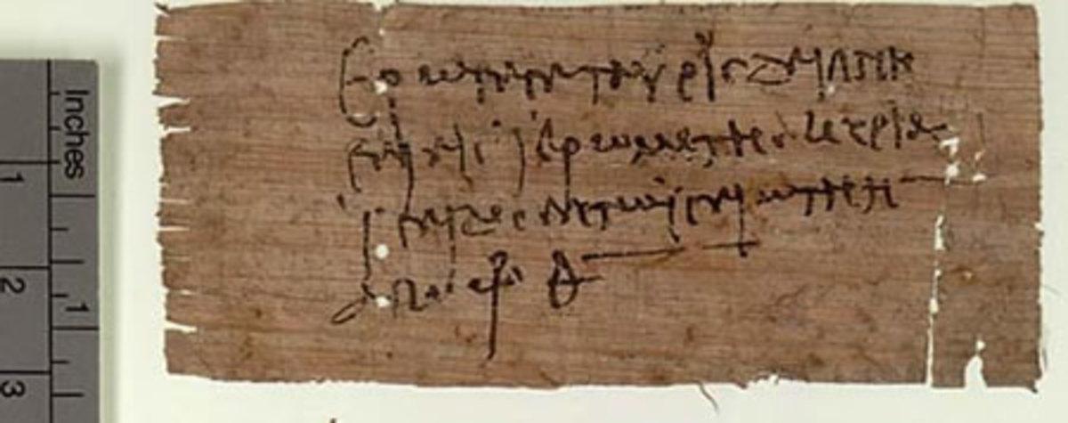 A small Roman inscription on Papyrus