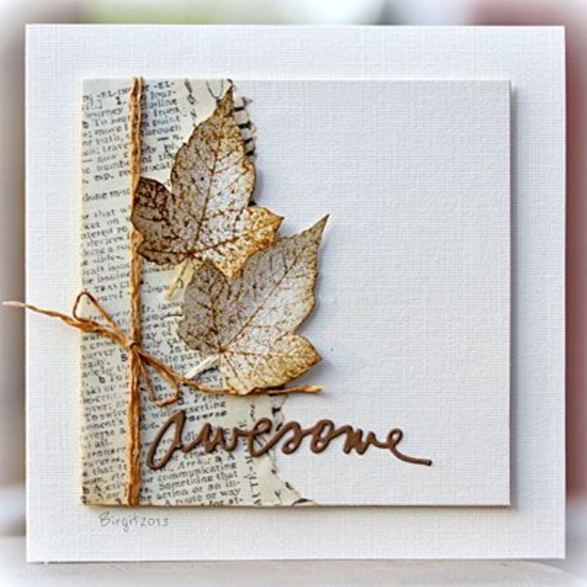 A casual exchange handmade card by scrapbooking247.com