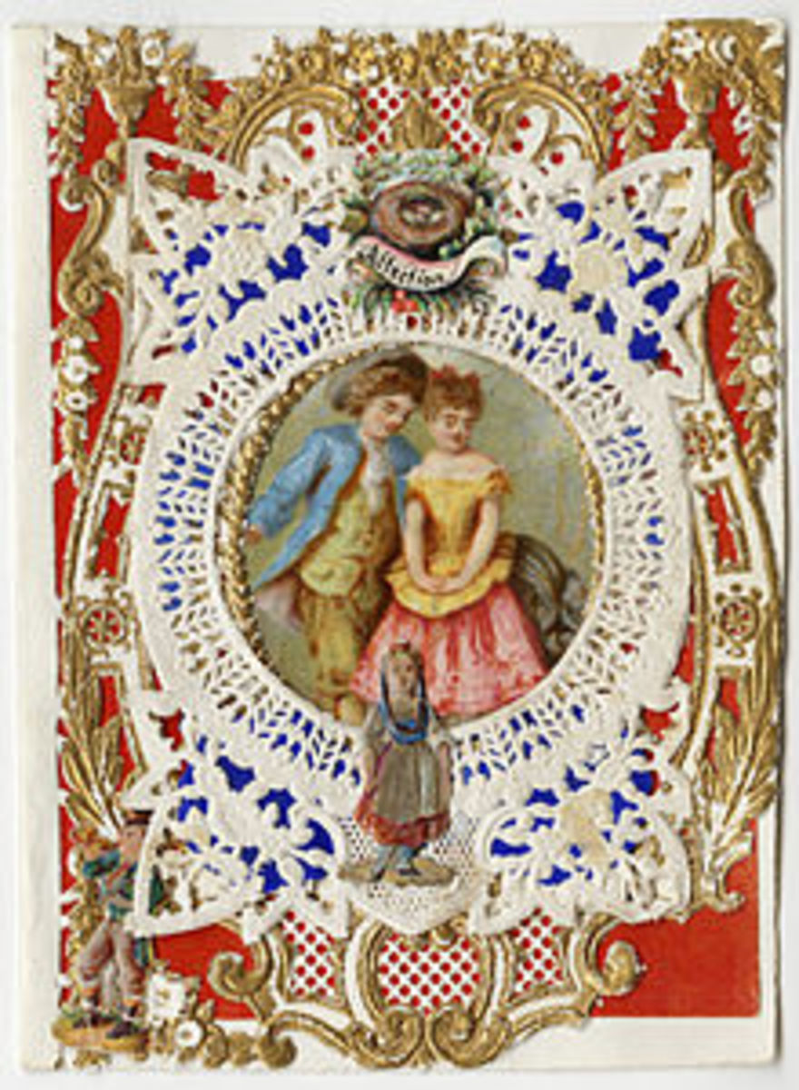 The First Valentine's Day Card Published by Esther Howland in 1840