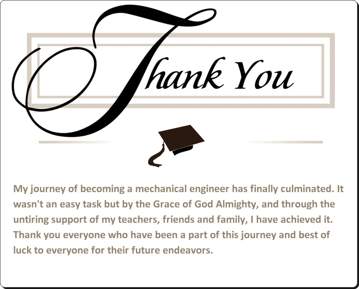 Sample Graduation Thank You Card Notes | Hubpages