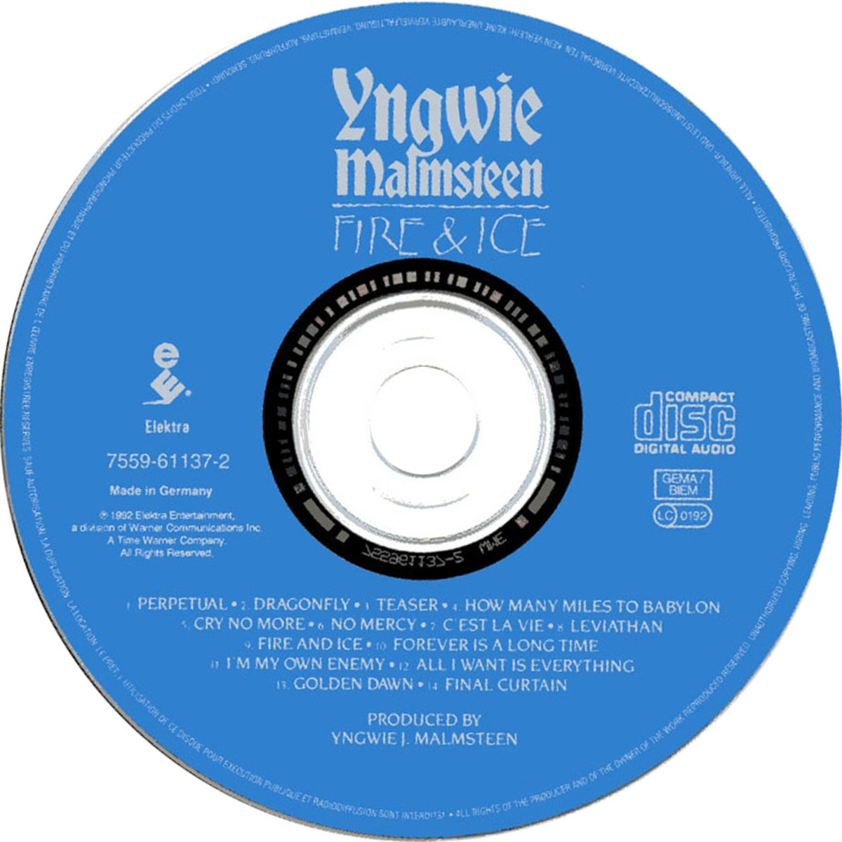 Swedish Guitarist Yngwie J. Malmsteen's