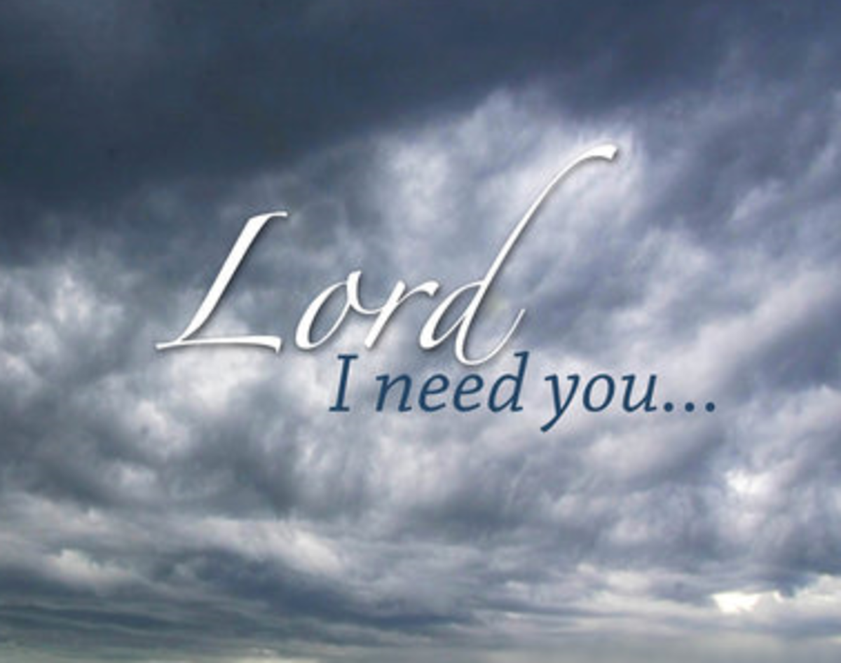 Lord, I Need You...