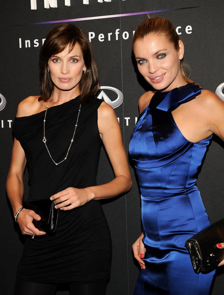 Esther Canadas attends the Infiniti photo call event with fashion model Nieves Alvarez at the Las Ventas Bullring in Madrid, Spain.