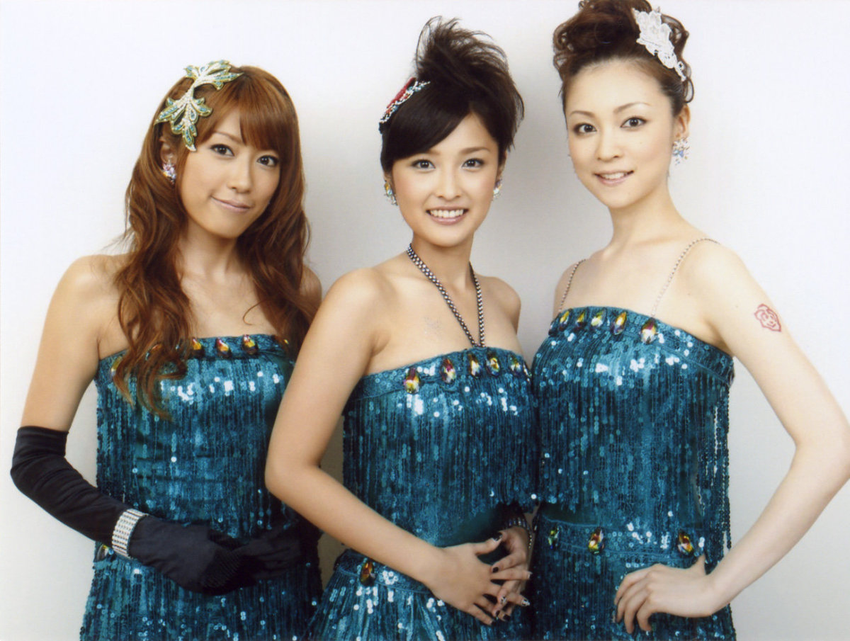 Mai Satoda (left) is seen here with Rika Ishikawa (middle) and Hitomi Yoshizawa (right) formerly of the girl group Morning Musume.