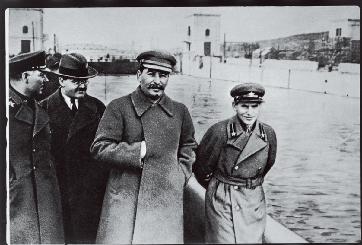 Stalin with Yezhov (Secret Police commander)