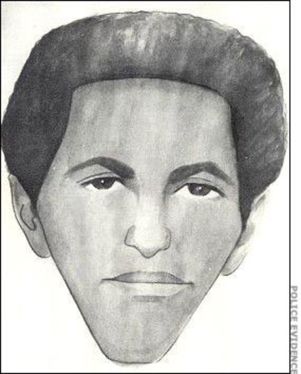 """Police Sketch of a suspect in """"The Stocking Strangler"""" killings"""