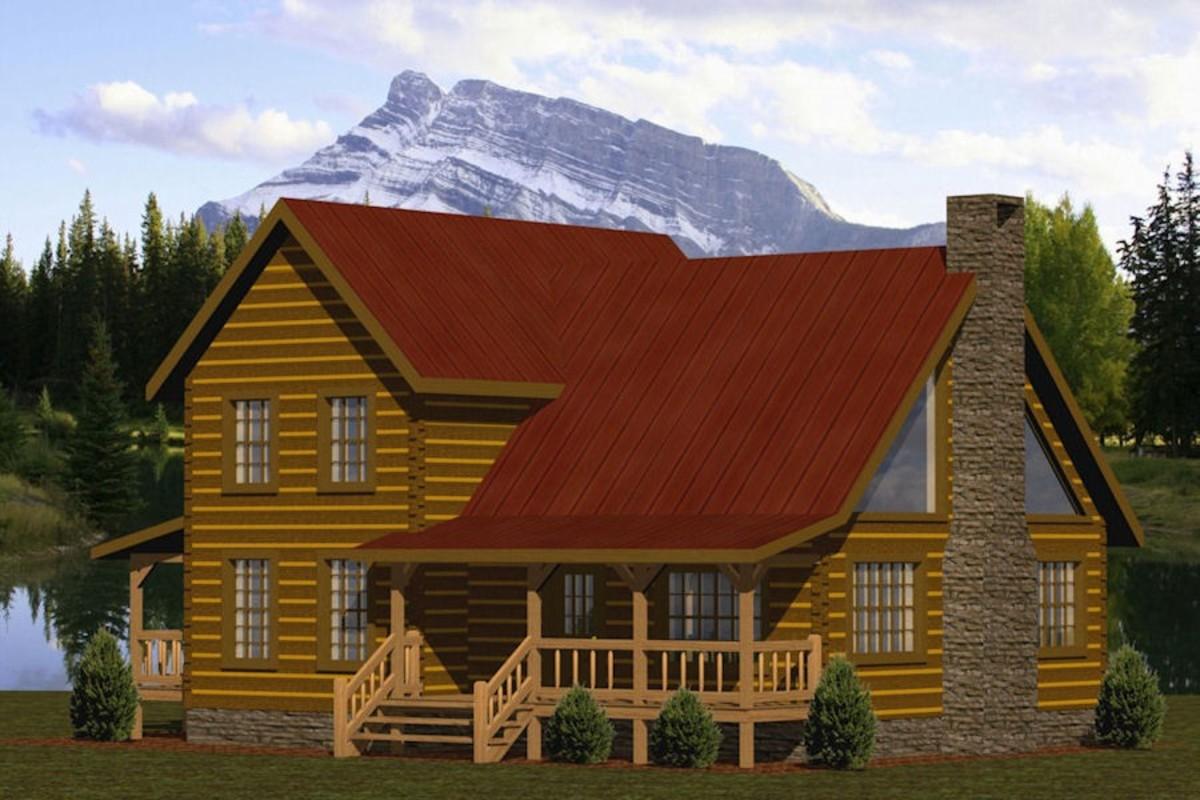Little Creek log home floor plan