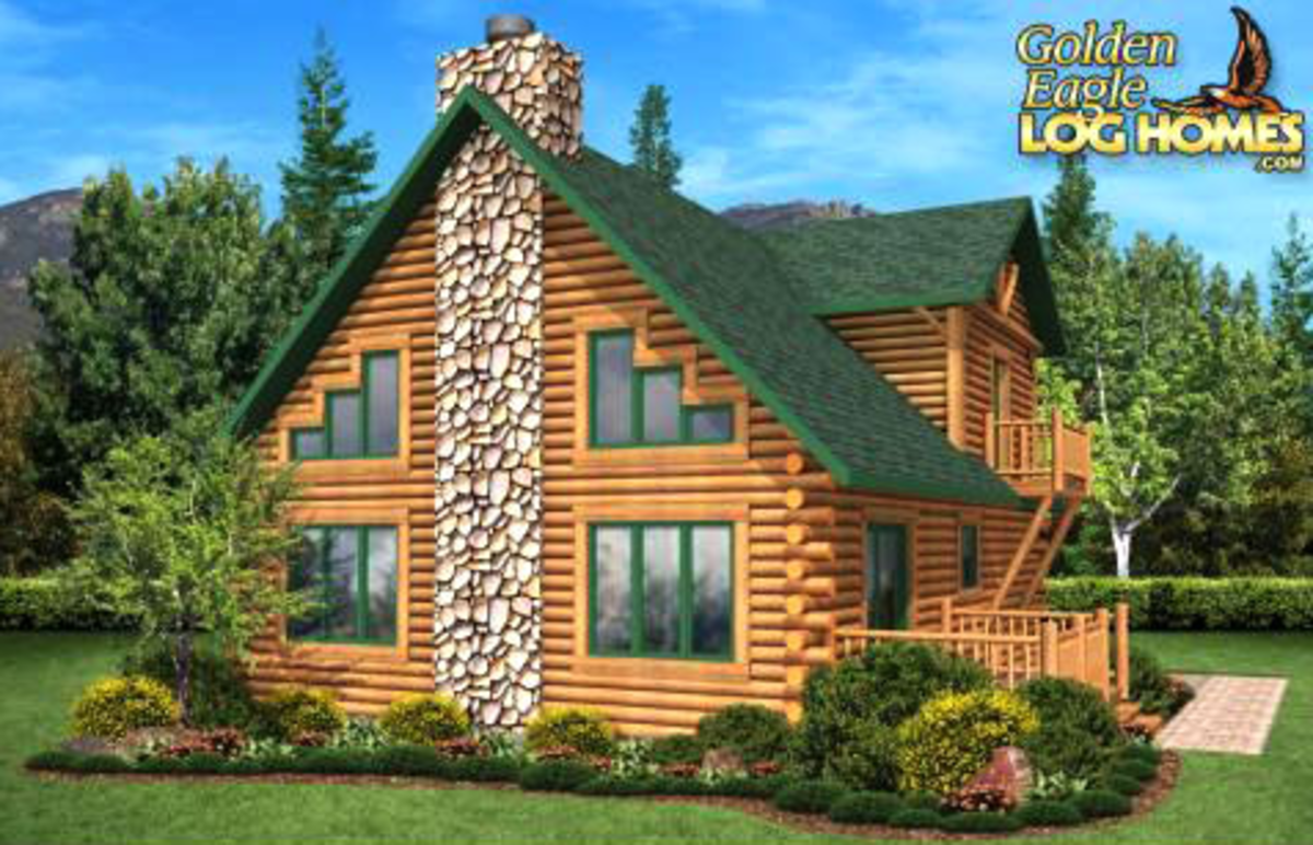 Pineview log home
