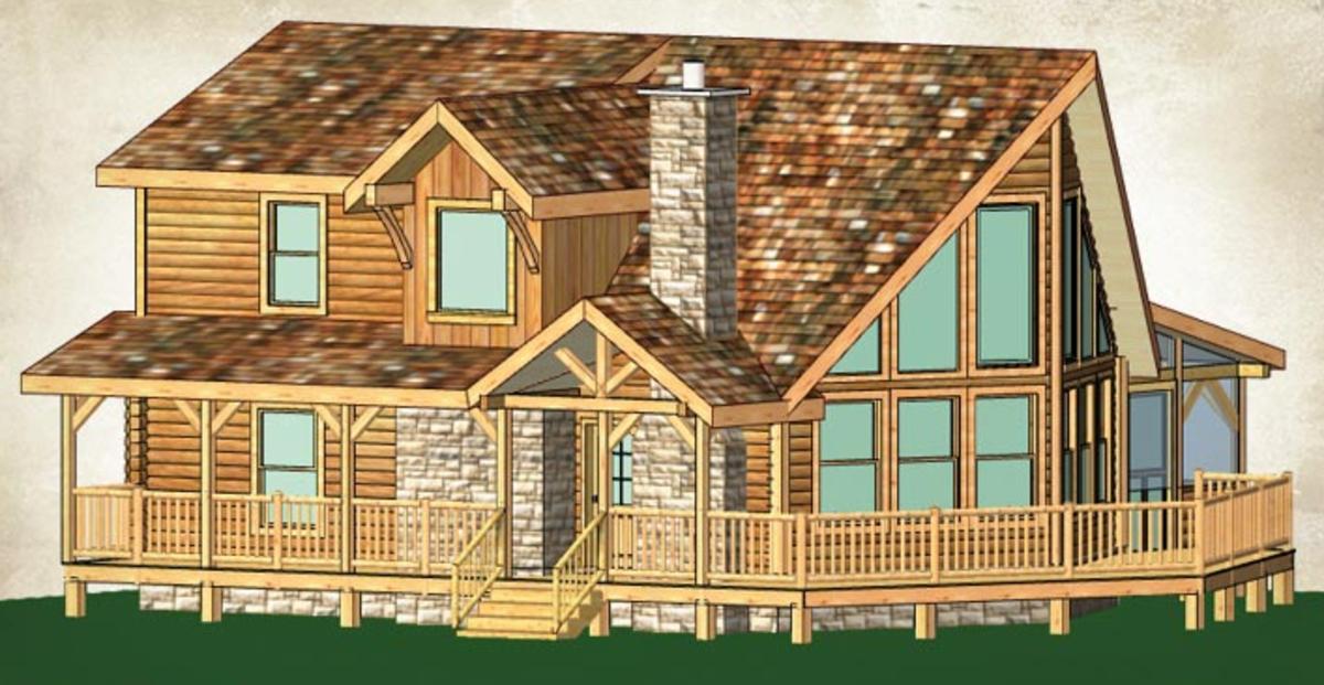 White Tail log home plan