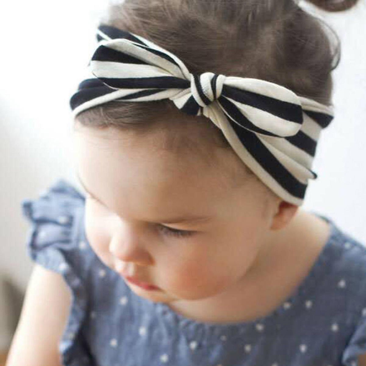 Fabric tie headband