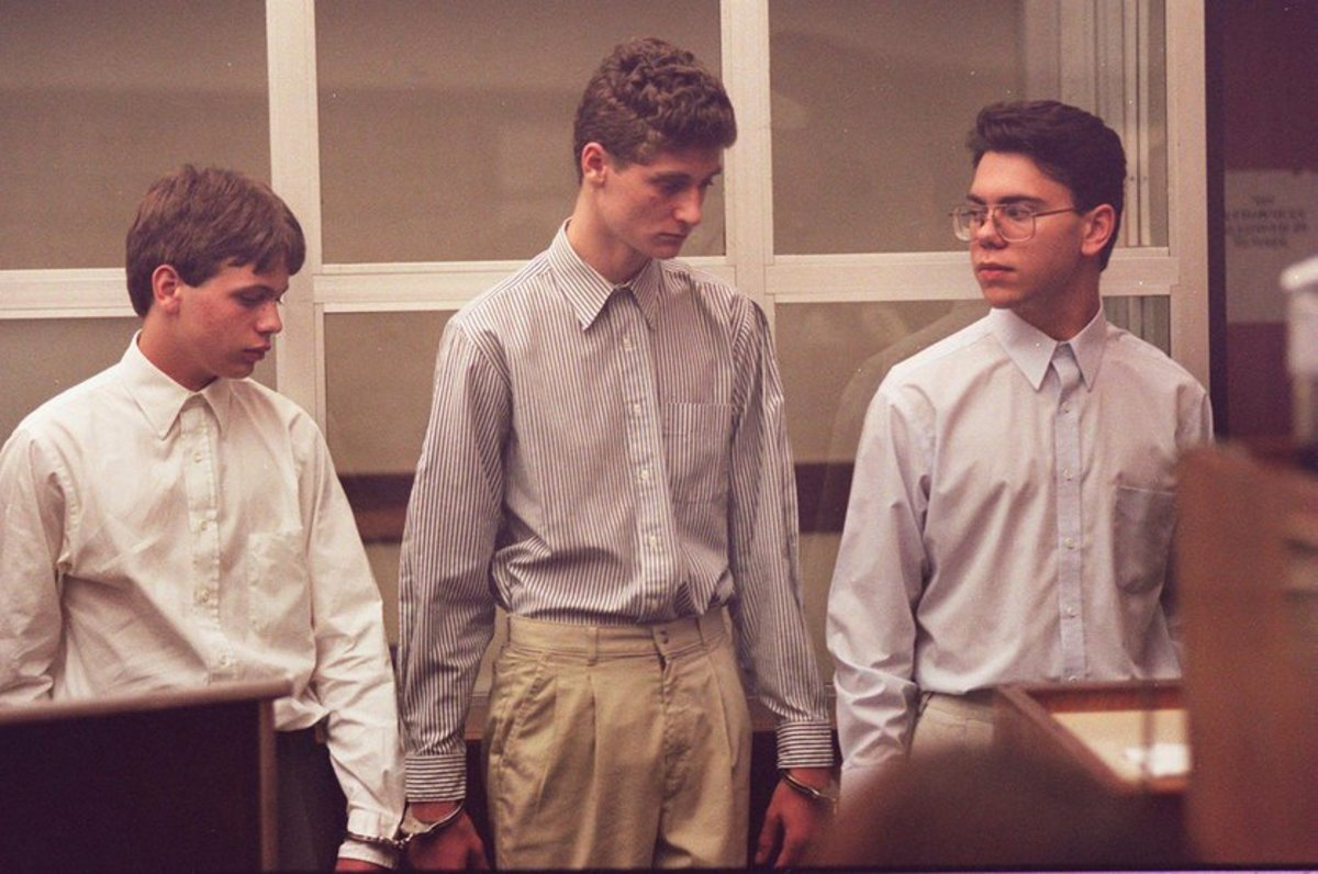 Aaron, Joshua, and Michael at a court appearance