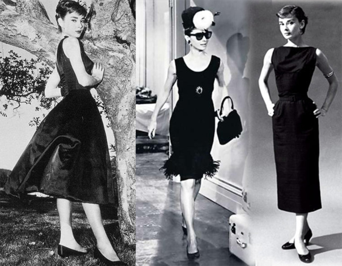 Audrey in black dresses