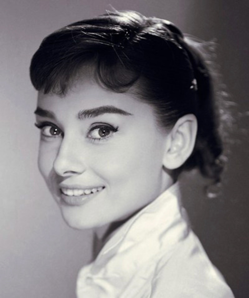 Audrey Hepburn in the 1950's