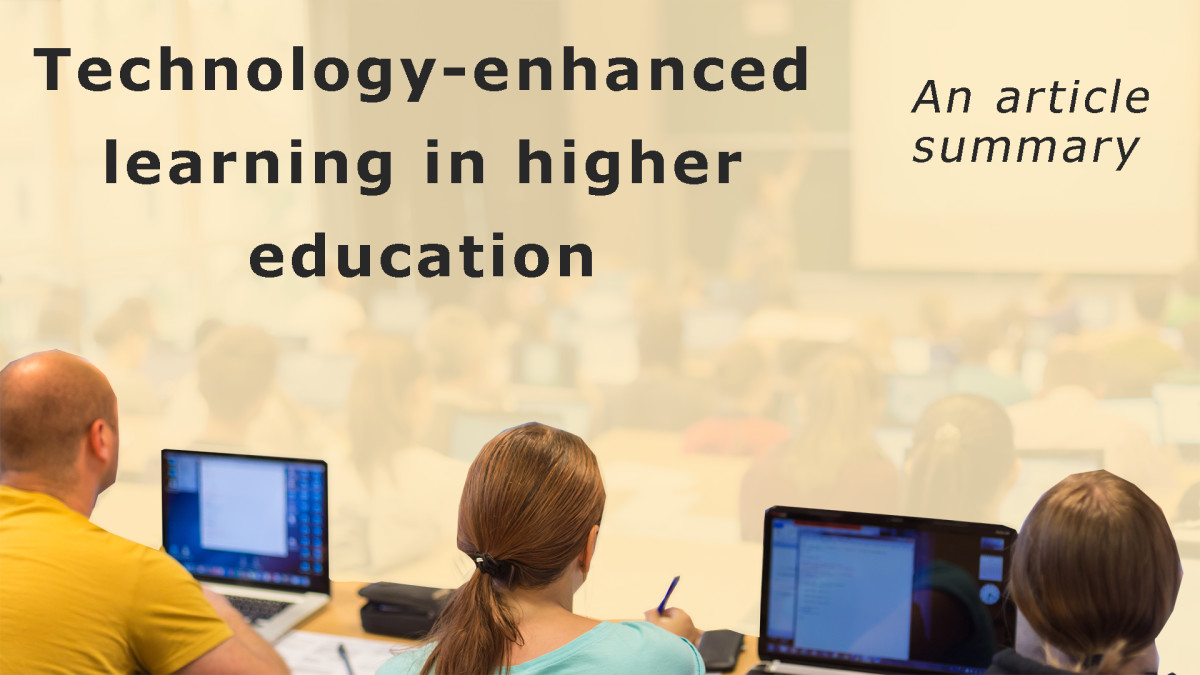 Technology-enhanced learning: Lessons from Kirkwood & Price (2013)