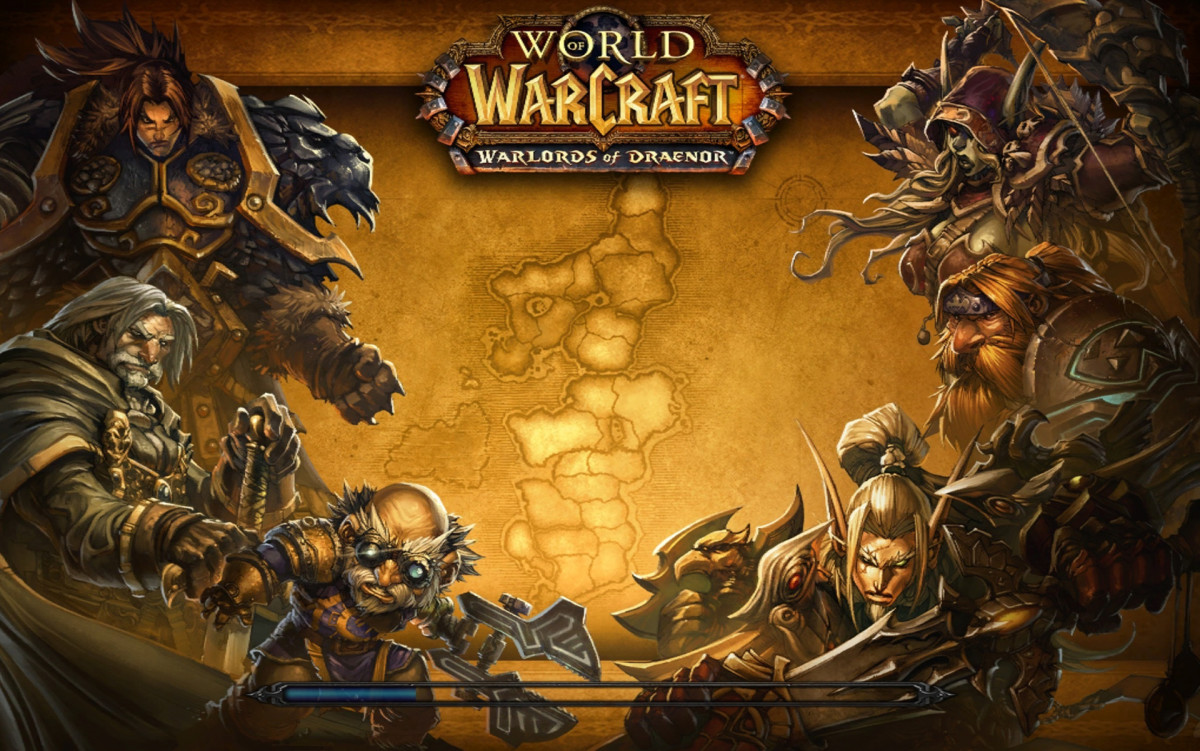 World of Warcraft Warlords of Draenor expansion loading screen.