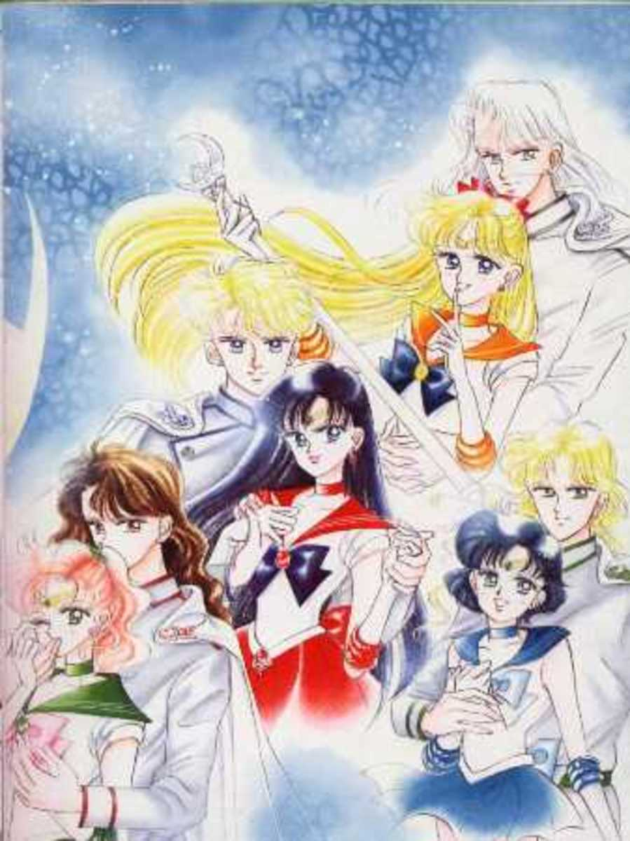 The SenshixShitennou coulpe artwork drawn by Sailor-Moon creator Naoko Takeuchi.