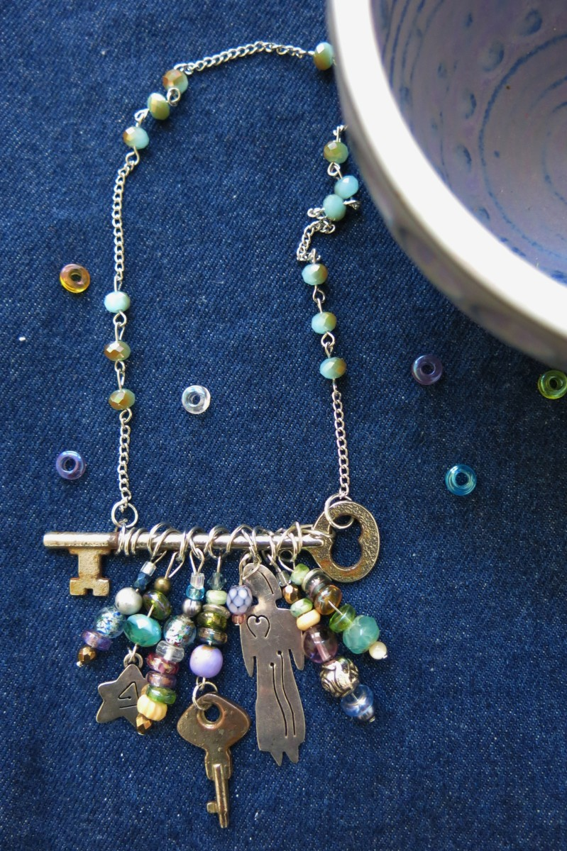 Skeleton Necklace with Beads