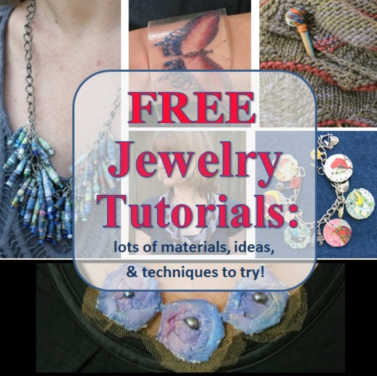 Free Jewelry Making Tutorials for Crafting Pins, Bracelets, Necklaces and More