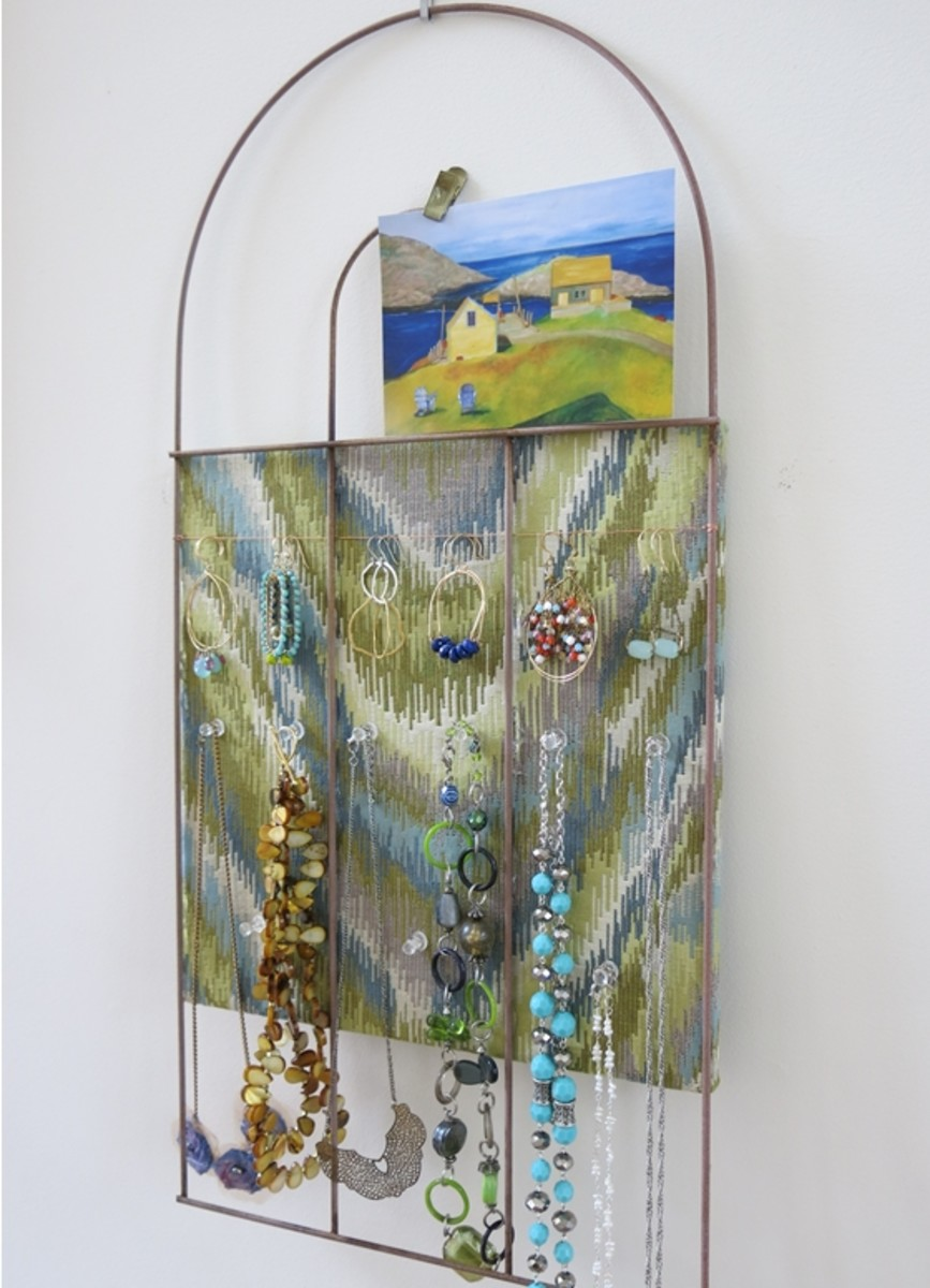 Creative Jewelry Organizer or Display Board