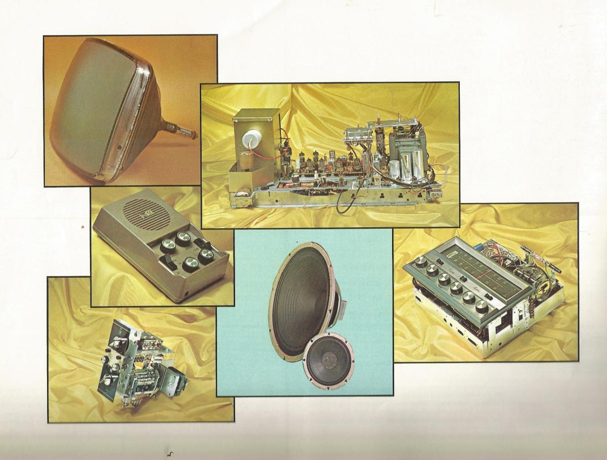 In 1967 Curtis Mathes build most of its own components, cabinets, speakers, transformers, coils, chassis, flybacks, circuit boards, vacuum tubes, and the the CM Module, a total color Television.
