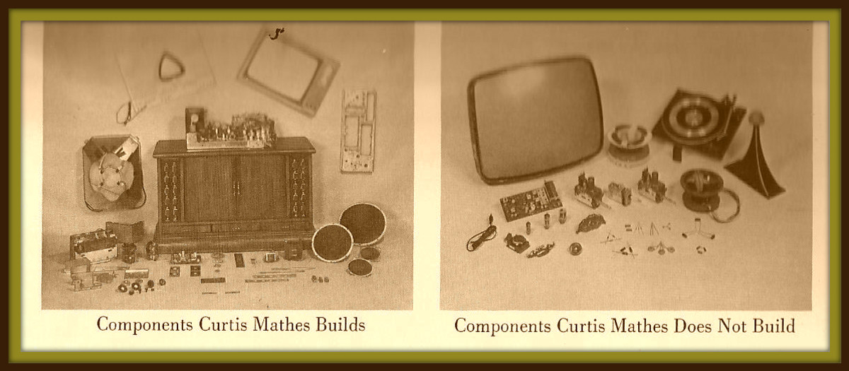 In 1967 Curtis Mathes built most of its own components, cabinets, speakers, transformer, coils, chassis, fly-backs, circuit boards, face masks,etc.