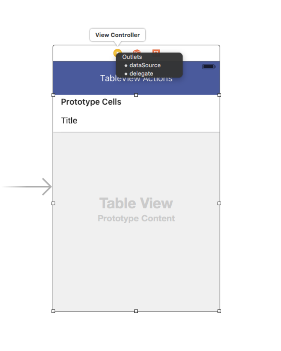 Attach dataSource and delegate to your TableView