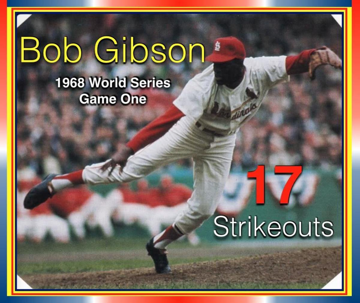 Bob Gibson's World Series record 17 strikeouts is still the standard of excellence in a big game