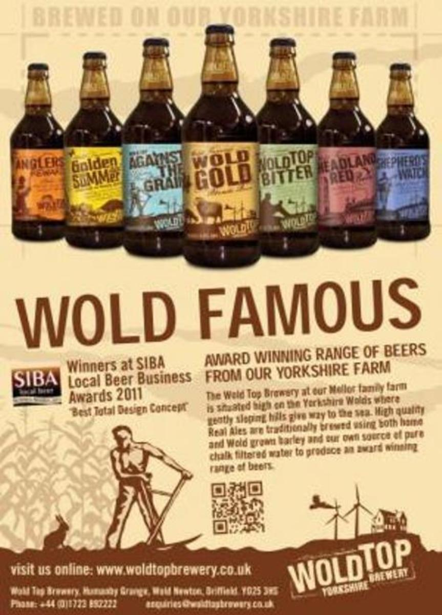 Something to wash down that big dinner? Why, the Wolds Brewery - Wold Famous as it says - has something to suit your taste.