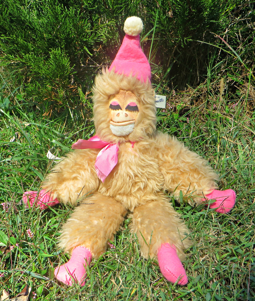 Sleepy Monkey, sometimes called Scary Monkey. She came out in the late 1940s, & was part of the bed time collection of stuffed animals up to 1959. She has the special wire patent, which was a method of making toy animal figures with a internal wire.