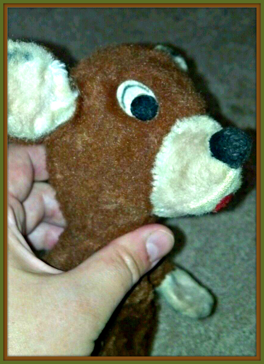 You can see the attention to detail in each plush animal and hand puppet made by Character Novelty Co. This vintage puppet has hand stitching and eyeliner that was applied by hand.