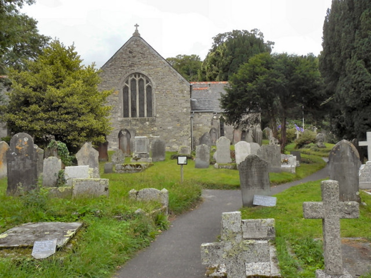 Mylor Church, Mylor, Cornwall. Amanda Hicks is buried here.  Joel, her brother's body was not found, but he is commemorated.