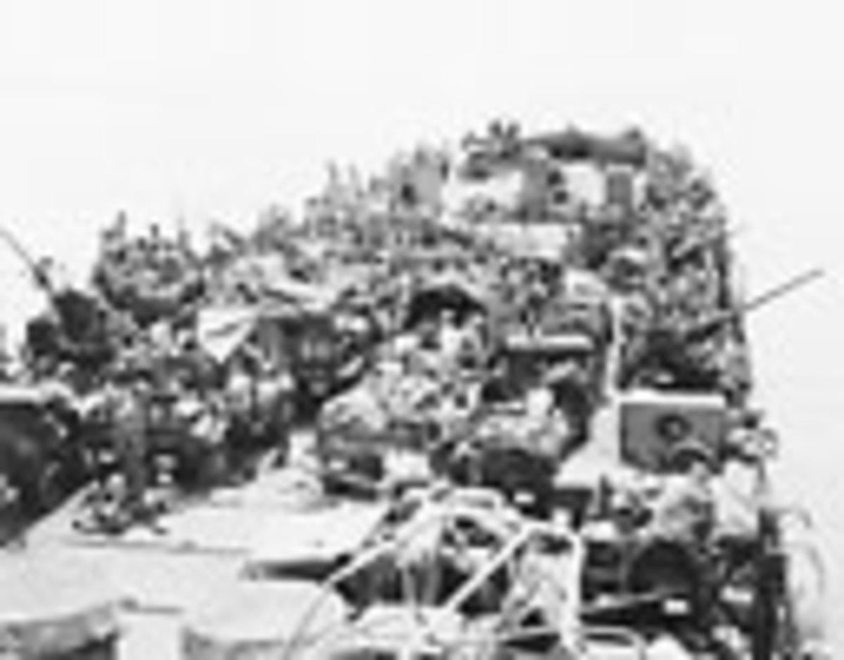 12th Defense Battalion en route to Cape Gloucester