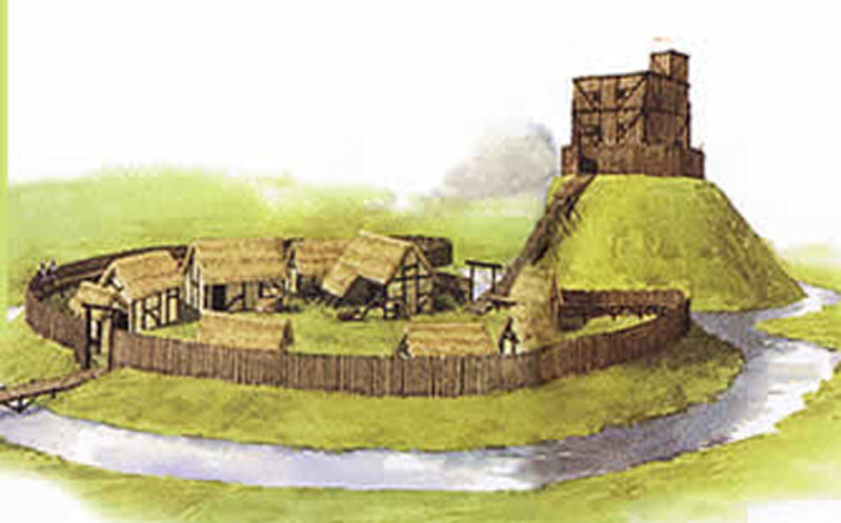 Early Norman strongholds were timber-built. Some, like Hereford and both of York's amongst others, were burnt down in risings. They would be rebuilt in stone - a daunting prospect  for those not used to siege warfare.