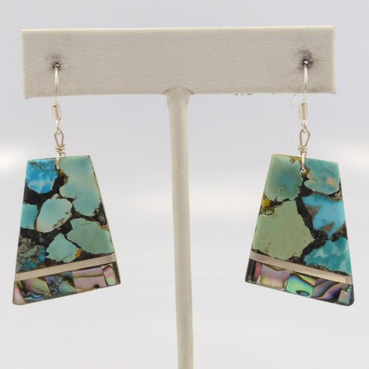 Turquoise and shell earrings