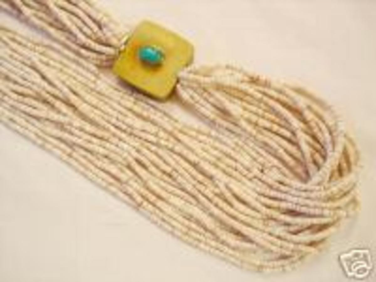White heishi (shell) necklace