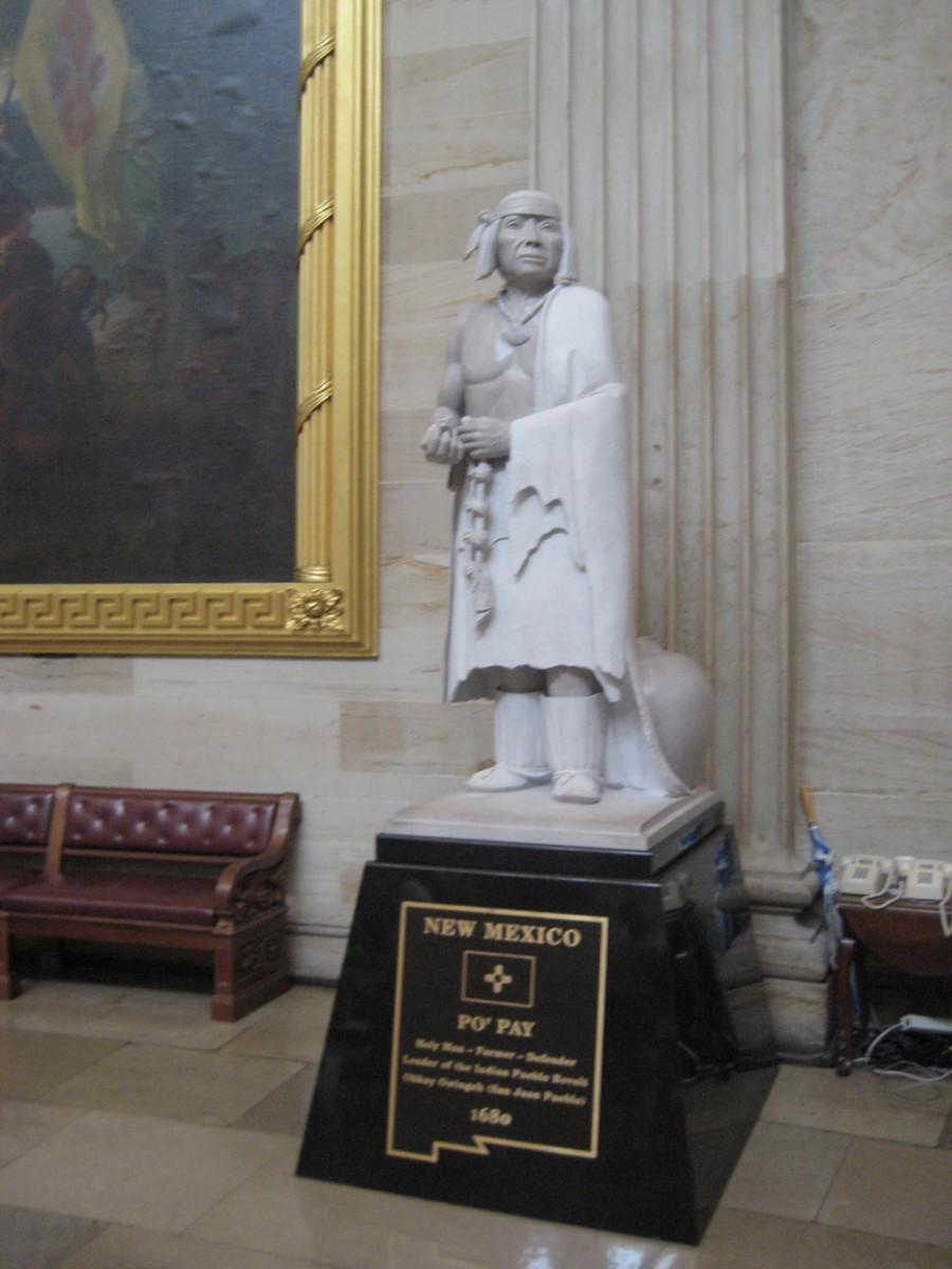 Po'pay, leader of the pueblo revolt.