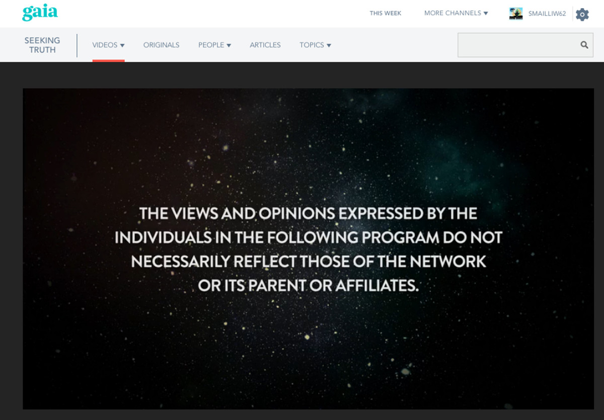 Granted this is a standard disclaimer but it does show that not everything discussed on the Cosmic Disclosure Show is embraced by its producers.